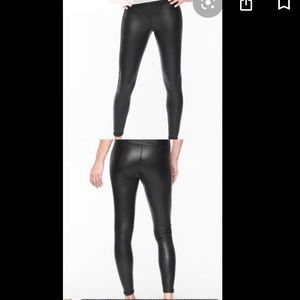 Athleta all over gleam tight leggings faux leather